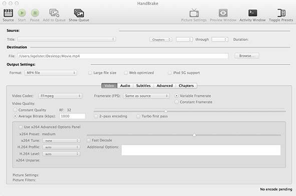 HandBrake: Open Source Video Transcoder