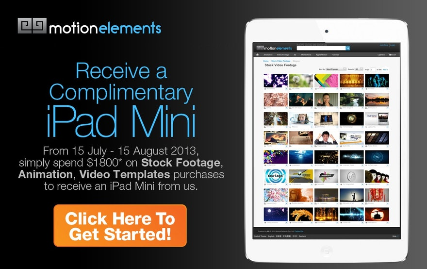 MotionElements iPad Mini Promo