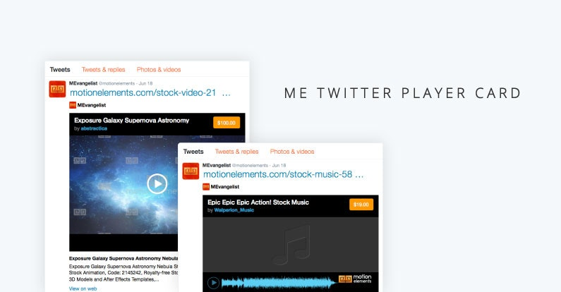 Promote your Elements on Twitter with our new Twitter Player Card!