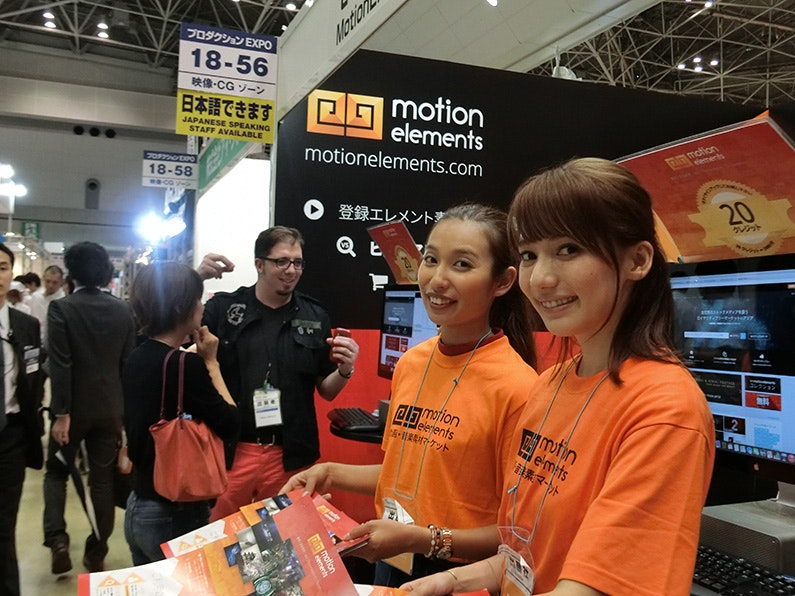 MotionElements had a blast at Content Tokyo