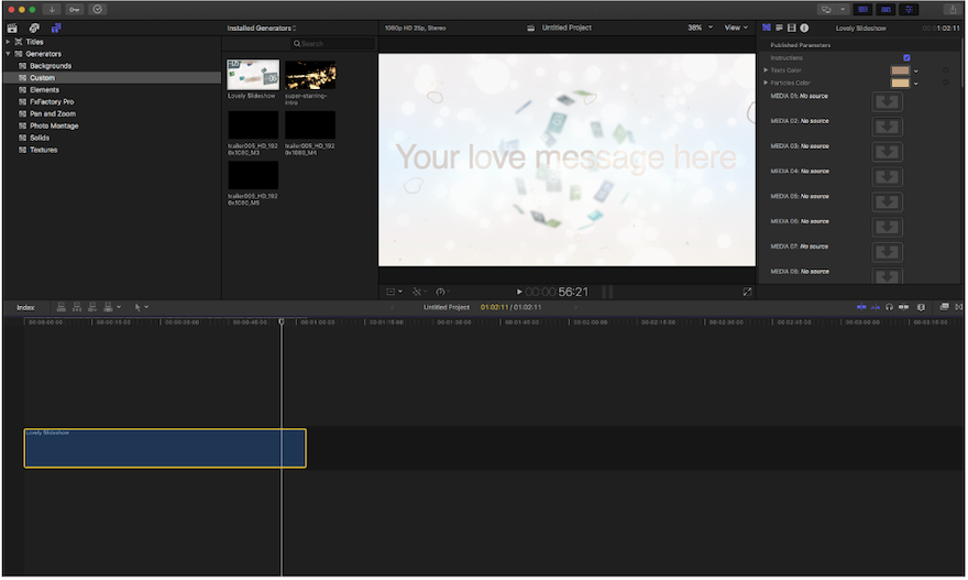 Motion Template Editable for FCPX