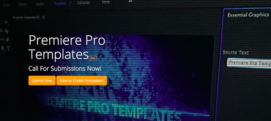 素材召集令:立即上傳您的 Premiere Pro 和動態圖形模板!
