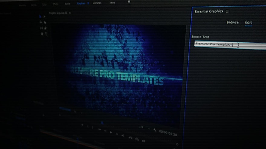 Motion Graphics Template in Adobe Premiere Pro – Perfect for Video Editors