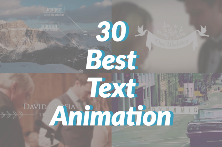 30 Best After Effects Text Animation Templates of 2017