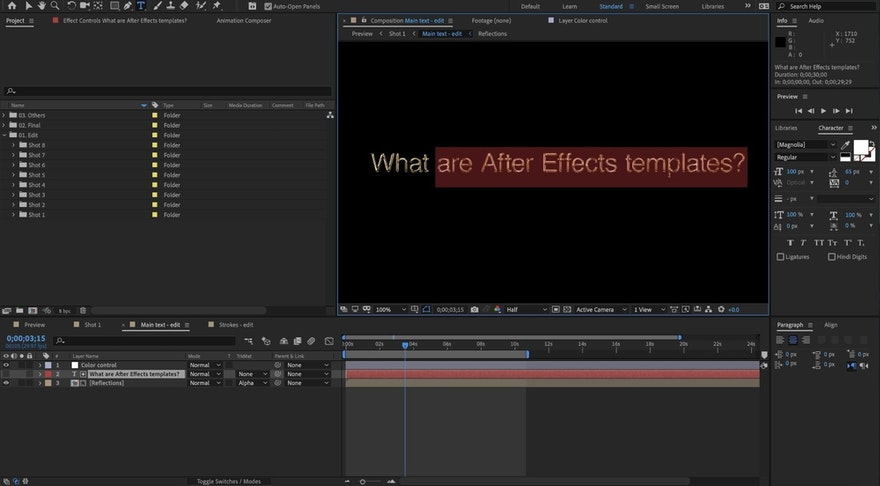 What are 'After Effects templates' ?
